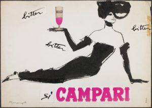 Ad Bitter Campari, 1960s, Franz Marangolo