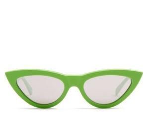 Ce?line cat-eye green glasses