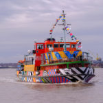 The Mersey ferry with dazzle design