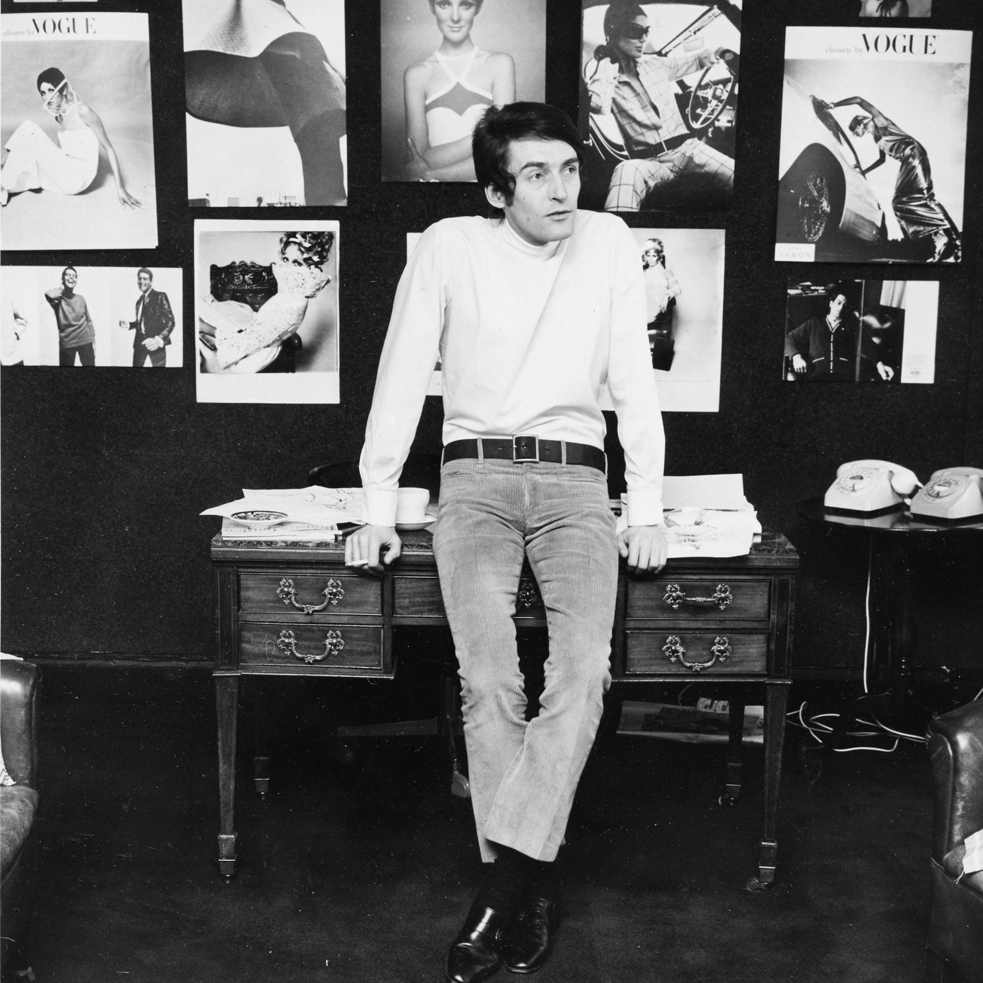 Jean Bates in his studio