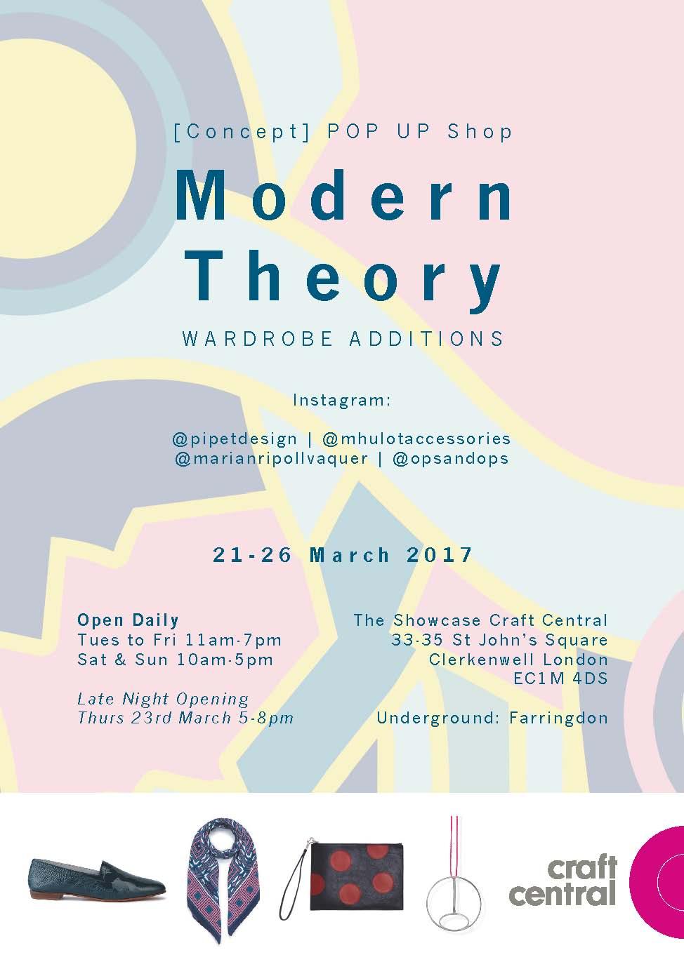 Modern Theory pop-up flyer
