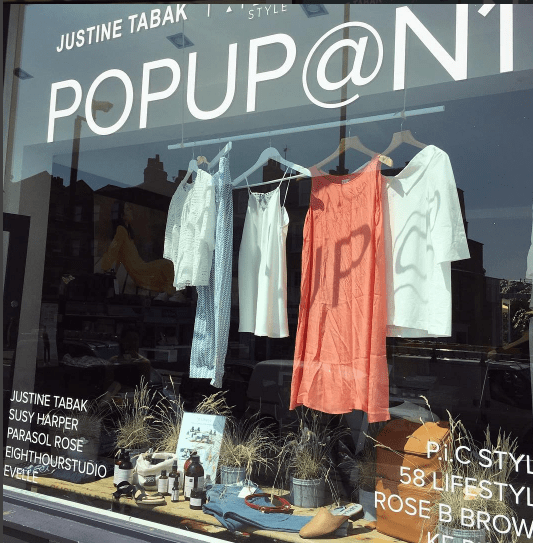 Summer in the city – shop front at POPUP@N1