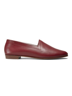 Ops&Ops No10 Claret leather flats side view