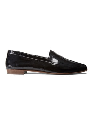 Ops&Ops No10 Bardot Black patent leather flats side view