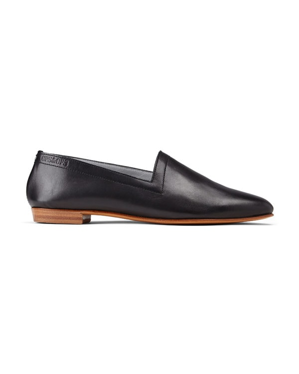 Ops&Ops No10 Classic Black leather flats side view