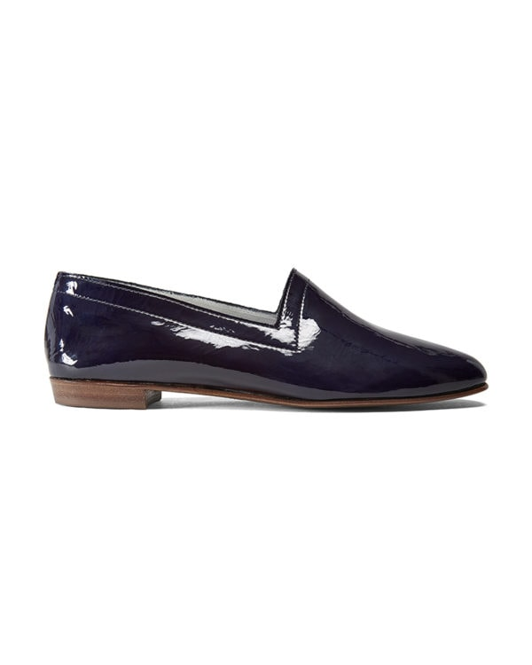 Ops&Ops No10 Midnight Blue patent leather flats side view