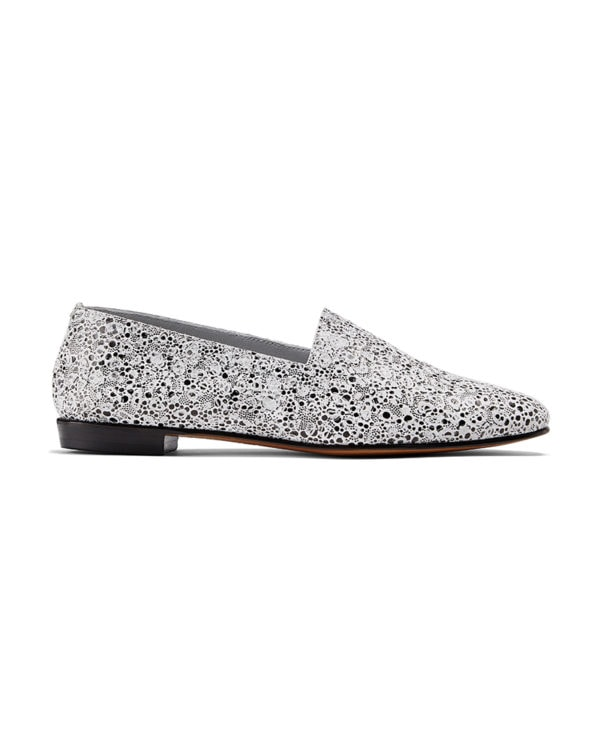 Ops&Ops No10 Pebble embossed leather flats side view