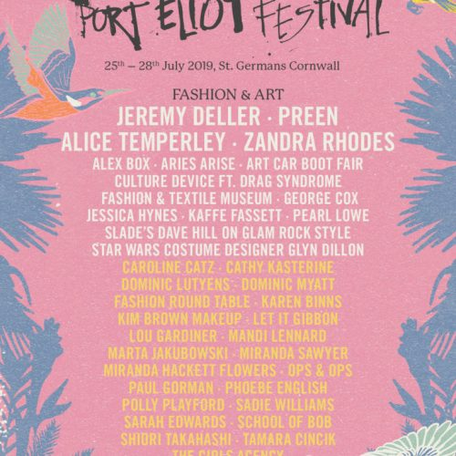 Port Eliot 2019 line-up, including Fashion Foundation