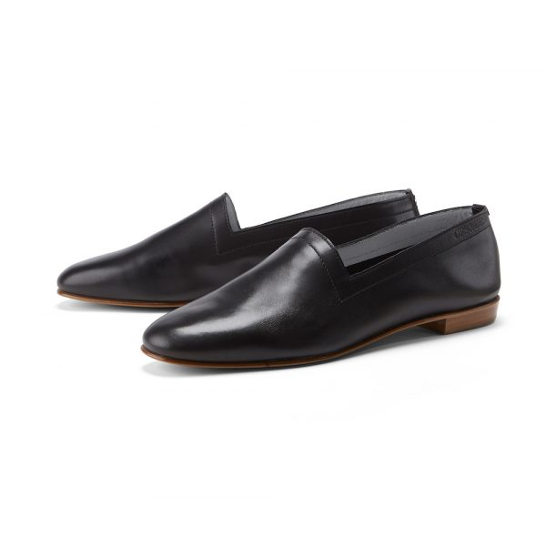 Ops&Ops No10 Classic Black leather flats pair