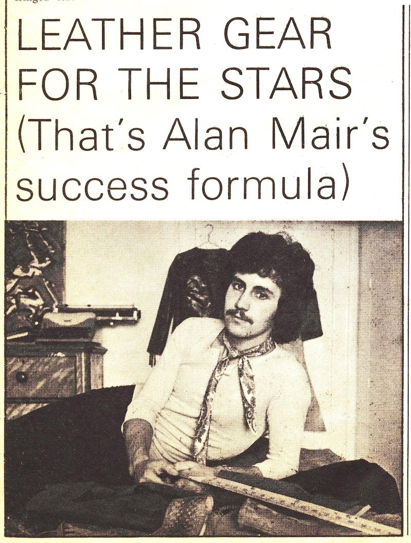 Leather Gear For The Stars: Mair newspaper cutting