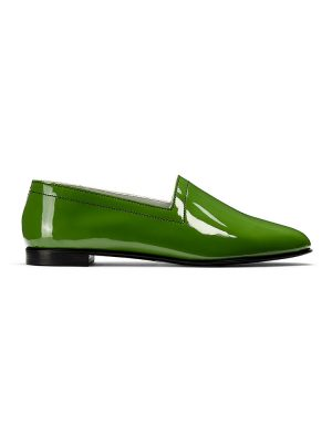 Ops&Ops No10 Avocado patent leather flats side view