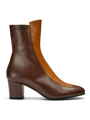Ops&Ops No16 Curly Wurly duo-tone leather boots side view
