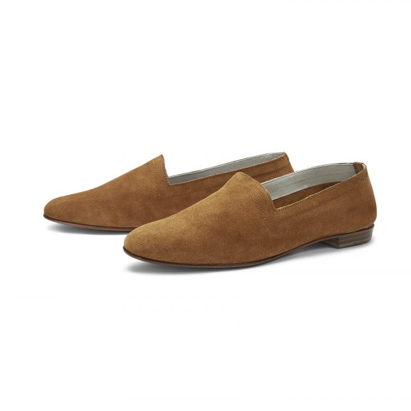 Ops&Ops No10 Toffee suede flats pair