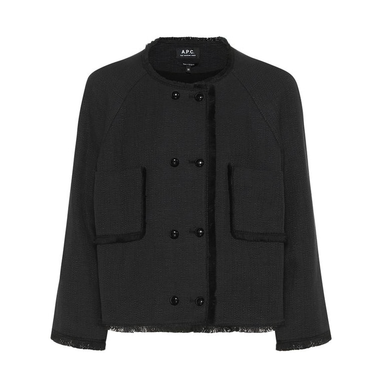 Winter Fabiola tweed jacket by A.P.C in black