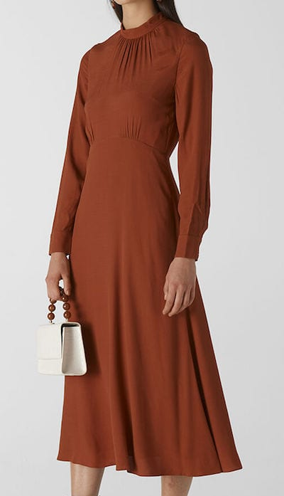 Ruby dress in Toffee by Whistles for winter