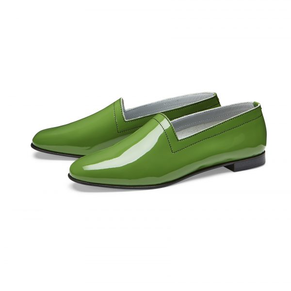 No10 Avocado patent leather flats, pair