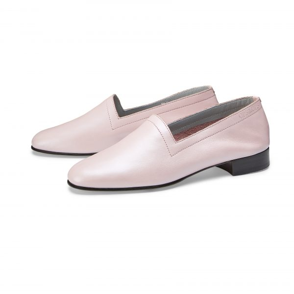 Ops&Ops No11 Pink Frost leather block heels pair