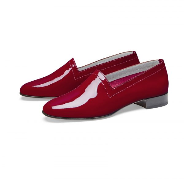 Ops&Ops No11 Crimson patent leather block heels pair