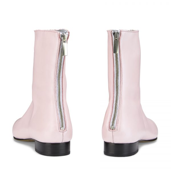 Ops&Ops No12 Pink Frost leather boots back view