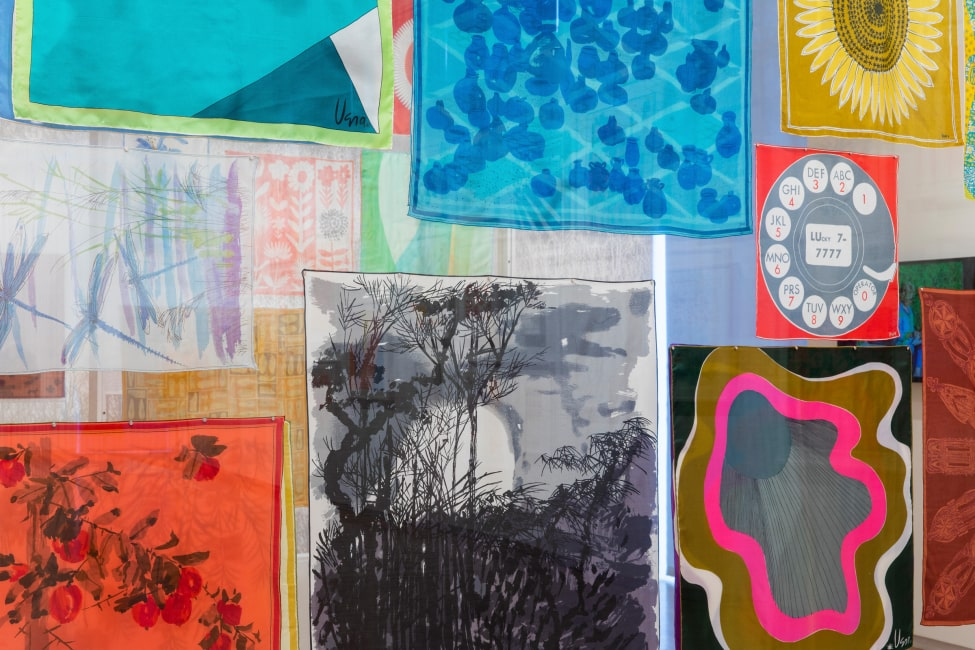 Vera Neumann scarves, part of MAD exhibition: Vera Paints a Scarf