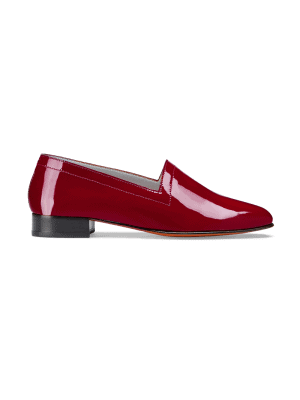 Ops&Ops No11 Crimson patent leather flats side view