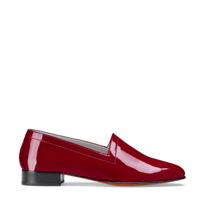 Ops&Ops No11 Crimson patent leather block heels side view
