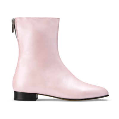 Ops&Ops No12 Pink Frost leather boots, side view