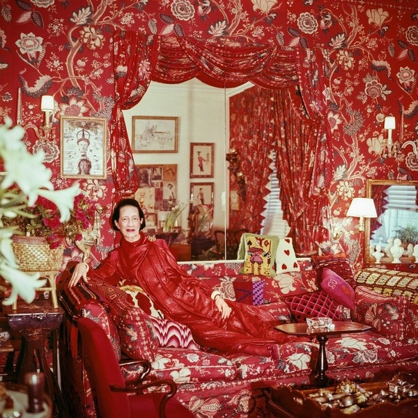 Red is the colour: Diana Vreeland's apartment