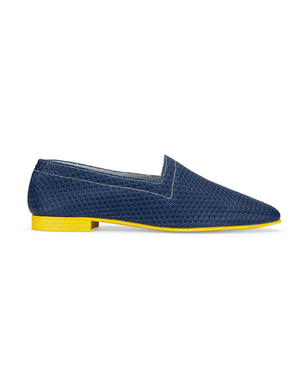 Ops&Ops No10 Action blue leather flats side
