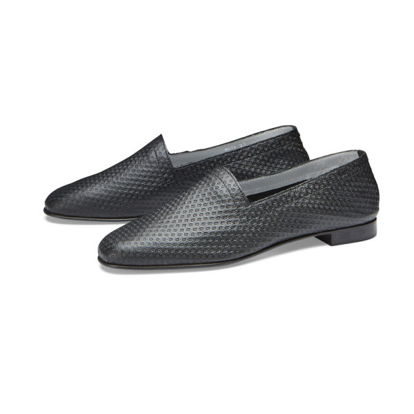 OpsOps No10 Action Black leather flats pair