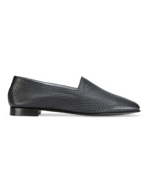 OpsOps No10 Action leather flats Black side view