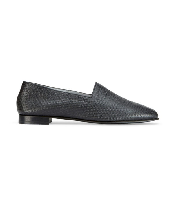 Ops&Ops No10 Action Black leather flats side view