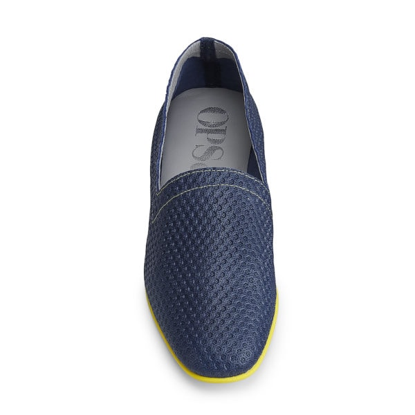 OpsOps No10 Action leather flats Blue front view