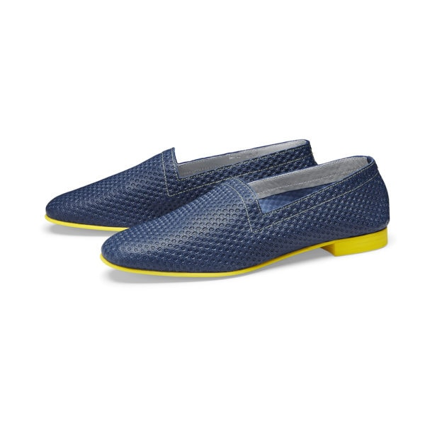 OpsOps No10 Action leather flats Blue pair