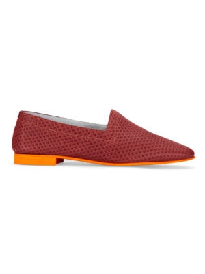 OpsOps No10 Action leather flats Red side view
