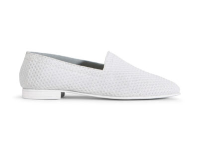 Ops&Ops No10 Action leather flats White side view