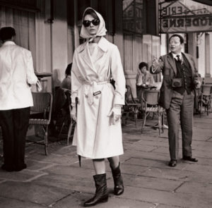 Audrey Hepburn in Givenchy go-go boots in film Charade