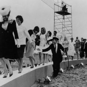 Final scene in Eight And A Half, a Fellini film