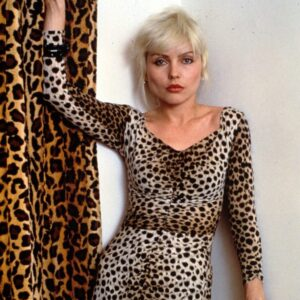 Blondies Debbie Harry in animal print