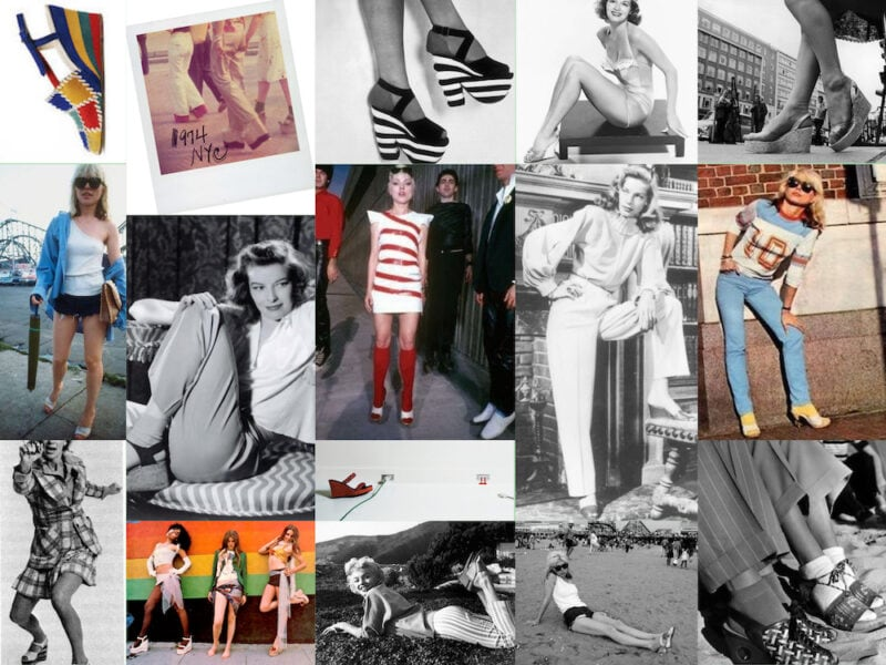 Ops&Osp Inspo moodboard for No15 wedge heels