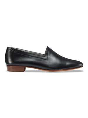 Ops&Ops No17 Classic Black nubuck flats, side view
