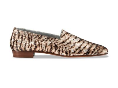 Ops&Ops No17 Tiger Rose leather flats, side view