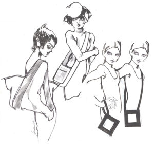 Barbara Hulanicki illustration of bags
