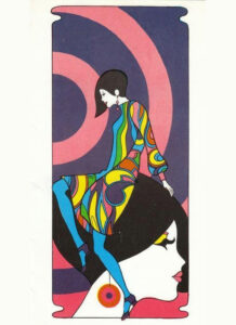 Fashion illustration from 1960s