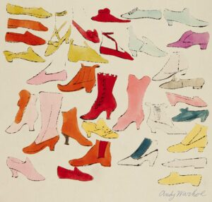 Andy Warhol footwear illustration