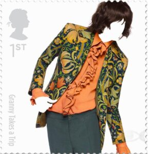 Royal mail fashion drawing postage stamp