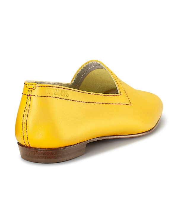 No10 Colman's Mustard loafers with red topstitch. Flavour of the month for June, back