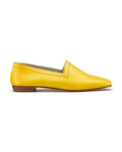 Colman's Mustard loafers with red topstitch. Flavour of the month for June, side
