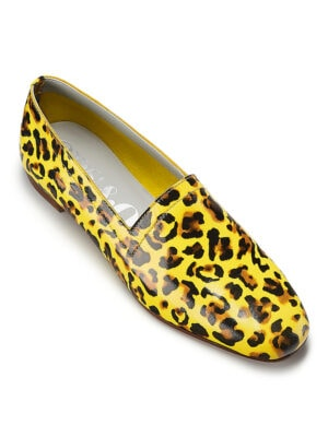 Ops&Ops No10 Leopard leather loafers. Flavour of the month for August, angle