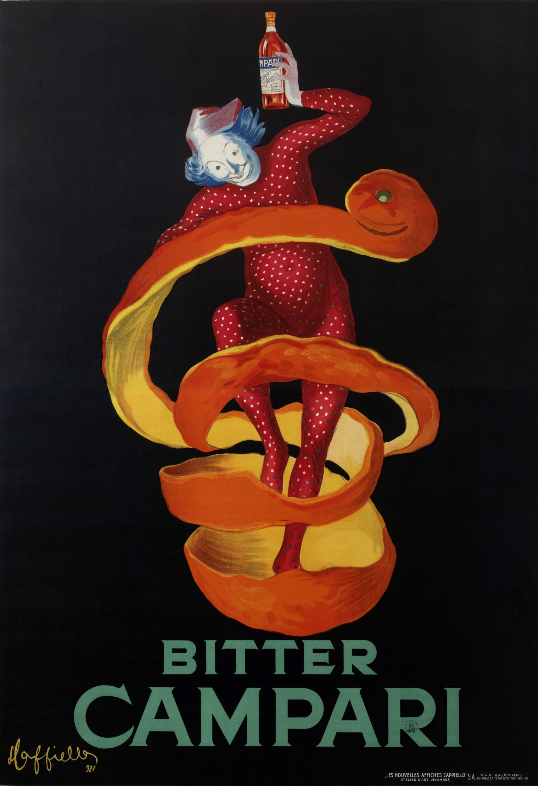 Bitter Campari – The Sprite, 1921. Leonetto Cappiello